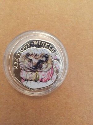 2016 Beatrix Potter Mrs Tiggy-Winkle 50p Fifty Pence Coin Collectors Sale