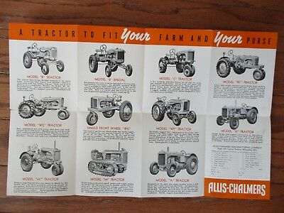 1940 ALLIS-CHALMERS TRACTORS and POWER FARMING EQUIPMENT BROCHURE...GOOD+