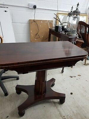 Antique Rosewood Card Table