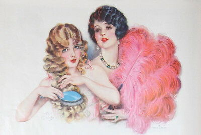 Beautiful Art Deco 1926 Shampoo Ad Dated and signed by Artist Earl Christy