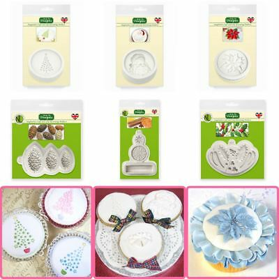 Katy Sue Craft + Cupcake Icing Silicone Moulds - Toppers - CHRISTMAS RANGE