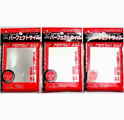 KMC 100 pochettes Card Barrier Perfect Size Soft Sleeves, 3 Packs/Total 300 p...