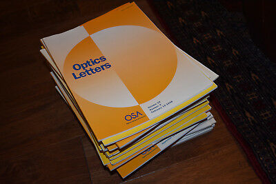 46 Issues of Optics Letters 96 97 98 The Optical Society of America