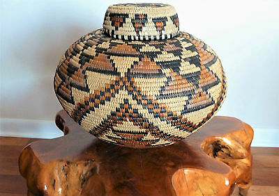 Very Large ZULU ISICHUMO Basket - Bold, Colorful Design - Spiwe Khumalo