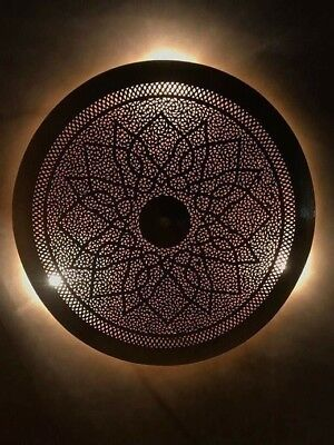 Handmade Moroccan Wall Light Brass Antique Lamp Copper  Moroccan Sconce