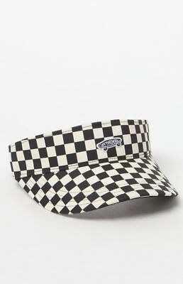 "Vans  Checkerboard  Strapback Visor cap / hat ""OFF THE WALL"" FREE SHIPPING"