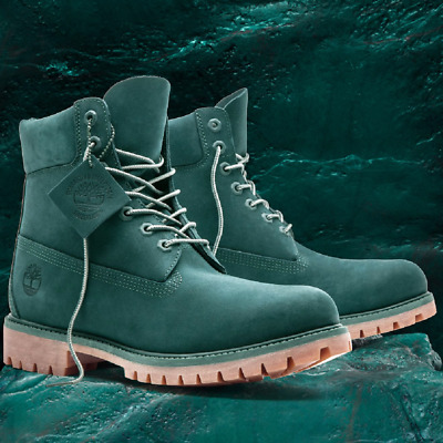 """Timberland Mens GREEN JADE Waterbuck 6"""" Boots Limited Release Sold Out Rare"""