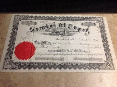 1900 sovereign oil company stock cert wow