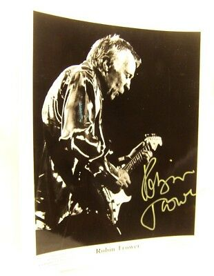 Robin Trower Autographed publicity Photo V-12 Artists