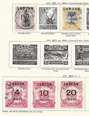 Labuan stamps 1894 Collection of 5 CLASSIC stamps HIGH VALUE!
