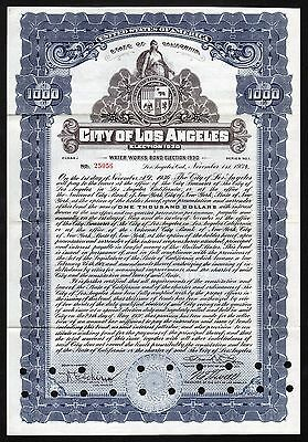 1934 Californien: City of Los Angeles - Water Works Bond, Election 1930