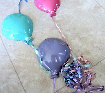 Four Colorful Balloons Homco Perfect Hard To Find