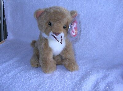 TY Beanie Babies,  LINAH the Baby Lion (Internet Exclusive) (5 inch)