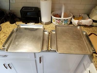 Commercial Grade 18 x 13 Half Size Aluminum Sheet Pan for COOKIE Baking LOT OF 4