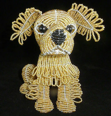 New  BEADWORX   PUPPY GOLDEN RETRIEVER  BEADED DOG
