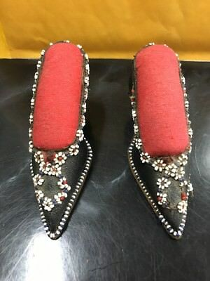 Antique Victorian Sewing Leather Shoe Pincushion.