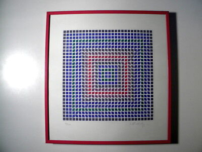 Victor Vasarely - feine ältere Farb-Lithographie - signiert - 99/250 - selten**
