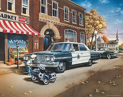 Law Enforcement Poster Art Print Police Car Badge Patch Swat Cop 11x14 MVP335