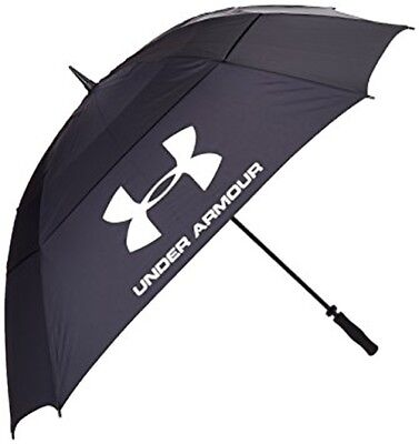New Under Armour Umbrella Double Canopy  Black/Green 68""