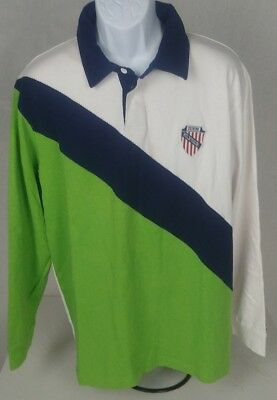 8584944c39f 90s Vintage Tommy Jeans 85 Polo Rugby Shirt Throwback Retro MENS L  Embroidered