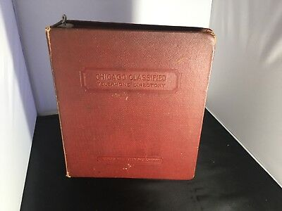 Chicago Vintage Telephone Booth  Book Binder Holder Set  Illinois Bell