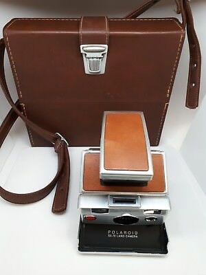 Polaroid SX-70 Land Camera and Leather Case