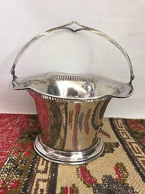 Solid Silver Silver 925 Basket, Bowl w Cut Border Detailing. Heavy 280g (10oz)