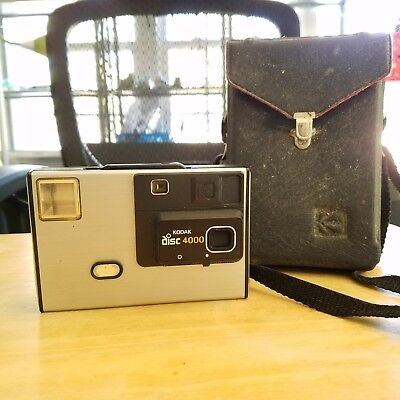 Vintage Kodak Disc 4000 Disc Camera with bag Photography Photo