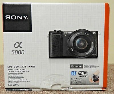 Sony Alpha a5000 Mirrorless Digital Camera with 16-50mm OSS Lens Black As Is