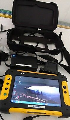 Trimble Yuma tablet computer docking station chest pack batteries chargers works