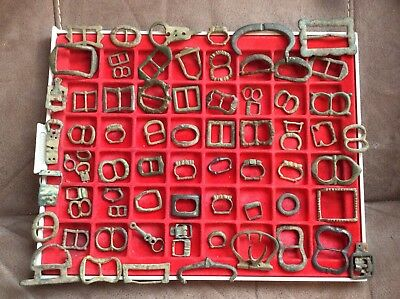 70 Plus Buckles No Pins Case NOT INCLUDED mostly Medieval Nice Study Group Group