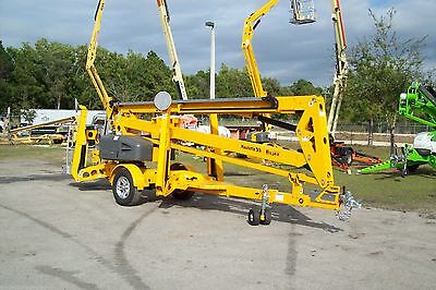 Haulotte 5533A 61' Work Height Towable Boom Lift, 33' Outreach, Auto Leveling