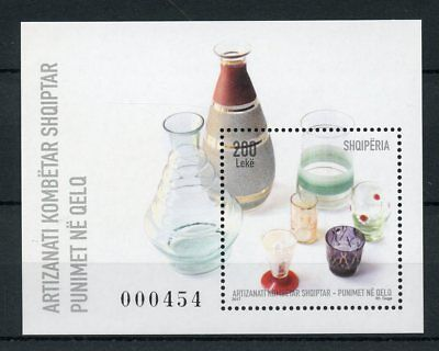 Albania 2017 MNH National Craft Glass Works Glassware 1v M/S Art Crafts Stamps