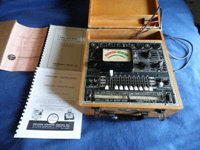 Vintage  Precision Aparatus Co 612 Tube And Battery Tester With Manuals Works