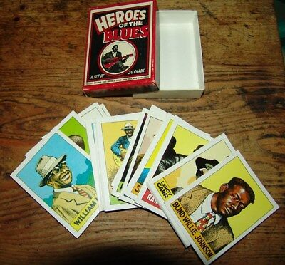 Heroes Of The Blues 36 Cards Trading Card Boxed Set Early Edition R. Crumb