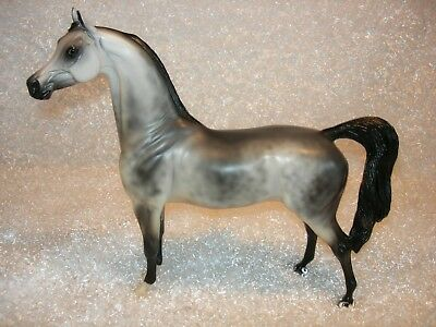 Peter Stone Arab Arabian Dappled Grey matte, signed by S J Rhody.