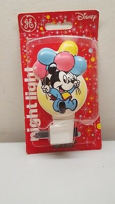 Vintage Disney Baby Mickey Mouse Plastic GE  Nightlight 1980's