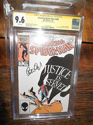 Amazing Spiderman #278 Signature CGC Graded 9.6 Signed by Peter David
