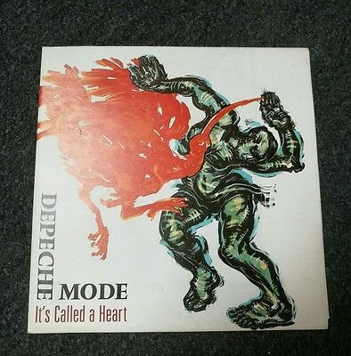 """Depeche Mode It's called a heart 7"""" Mute 1985 fold out Poster Cover limited edit"""