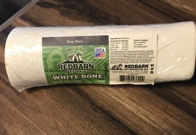 Redbarn Naturals White Bone (Large) - All Natural Dog Chew - Made in USA