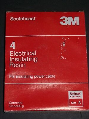 NEW old stock Scotchcast 3M 4 Electrical Insulating Resin Size A 3.2 oz 90 g