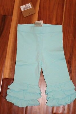 Girls $28 Swanky Baby Vintage Boutique Pool Blue Ruffle Pants 2T 3T S New NWT