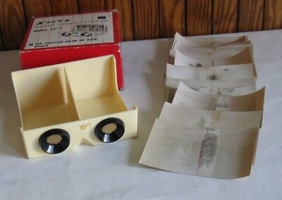 Vintage Stitz Stereo Viewer Model SV-2 with Stereo Photographs