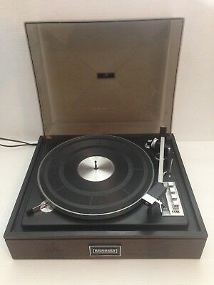 Vintage Elac Benjamin Miracord 50H Turntable with Dust Cover Made In Germany