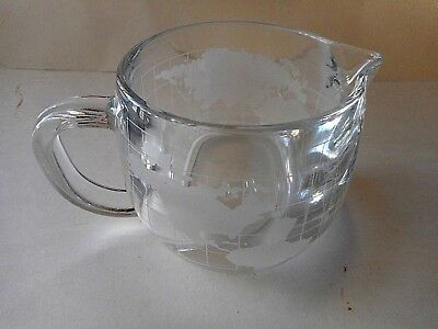 """Vintage Nestles Nescafe """"world"""" Etched Creamer In Mint Condition"""