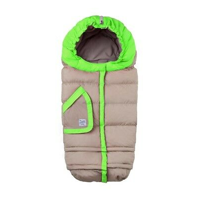 New! 7AM ENFANT BLANKET 212 evolution - Two tone - Beige/Neon Green, size 0-4T