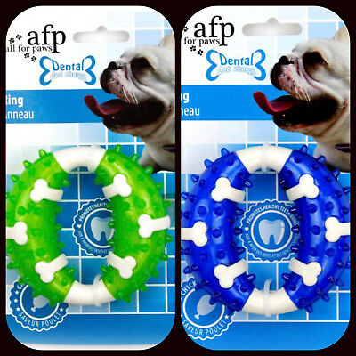 All For Paws Dental Ring Chicken Flavoured Dog/Puppy Chew Toy