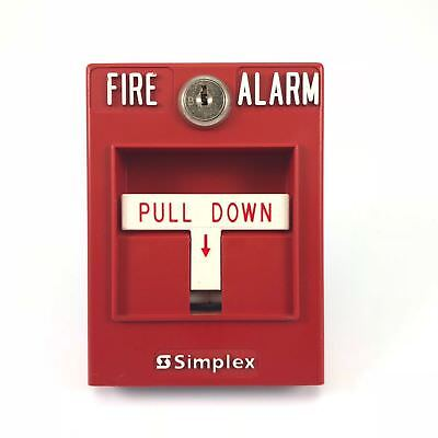Simplex Fire Alarm Pull Station 2099-9795 Single Action Addressable
