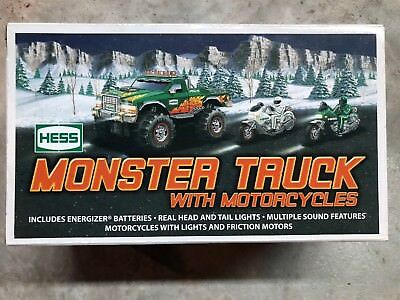Brand New Hess 2007 Monster Truck w/ 2 Motorcycles