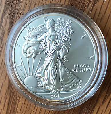 2011-S Burnished Silver American Eagle ** FREE SHIPPING ** 25th Anniversary